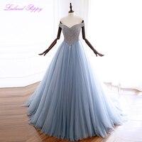 Новое поступление роскошное женское платье трапециевидной формы с открытыми плечами вечернее платье с кристаллами бисером без рукавов дли
