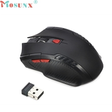 mosunx Mecall 2.4Ghz Mini portable Wireless Optical Gaming Mouse For PC Laptop