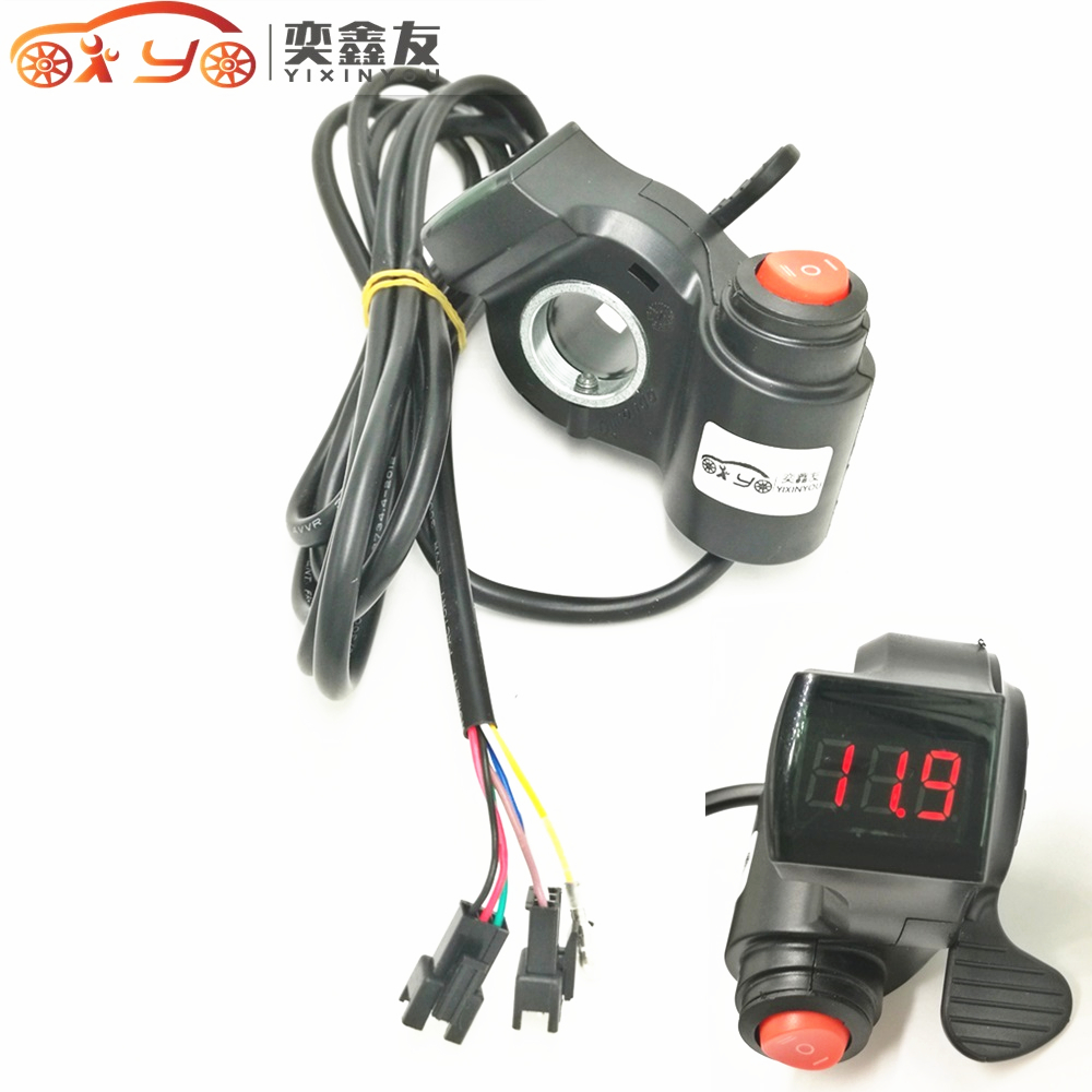 12v 24v 36v 48v electric scooter grips thumb throttle. Black Bedroom Furniture Sets. Home Design Ideas