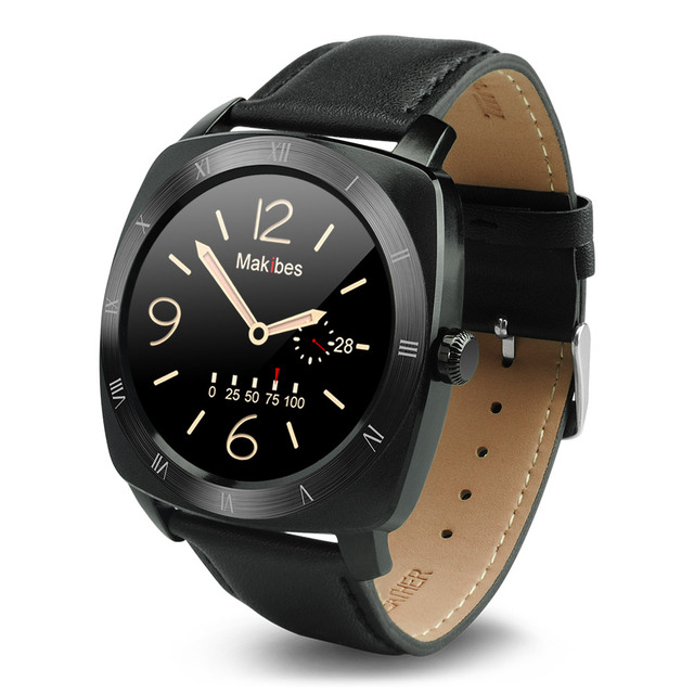 YUNTAB Smart Watch Ultra-thin 12mm Clock Bluetooth 4.0Heart Rate Tracker Bluetooth Music Passometer MTK2502C Smartwatch