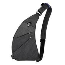 Новая мужская модная водонепроницаемая и износостойкая нейлоновая поясная сумка для отдыха нагрудная сумка Противоугонная сумка W3-129