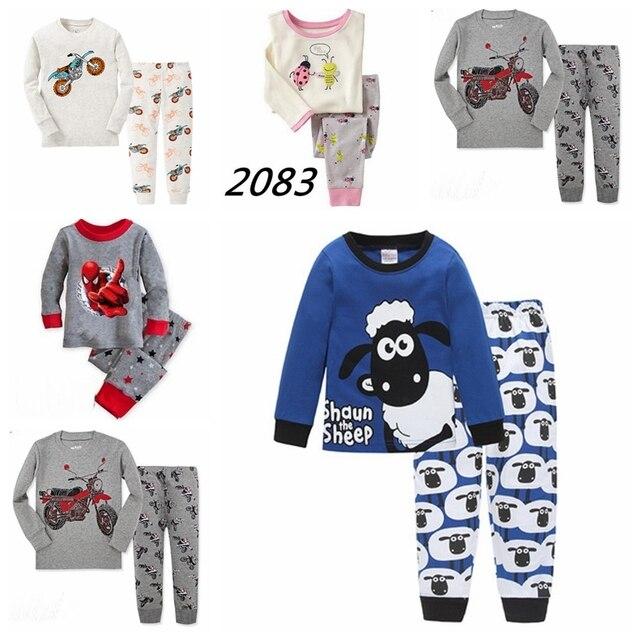 79d8d0b449e13 New style Children pajamas Baby Long sleeve Tshirt + Pants pyjamas kids Boys  girls sleepwear clothing sleeping suits P003