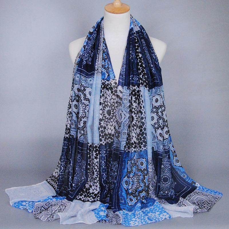 Femmes printe bohème floral viscose écharpe châle hijab musulman foulard  long wrap bandeau populaire foulards écharpe 10 pcs lot e2eae401c8c