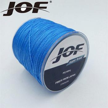 Новый JOF бренды 4 подставки 1000 м Multifilament PE плетеный провод плетеная леска супер сильная леска 10LB-100LB