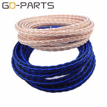 3.28ft/1 Meter High Quality 8TC Teflon OCC Copper Wire Cable for HIFI Audio Speaker Amplifier Turntable CD Player 16 Strands