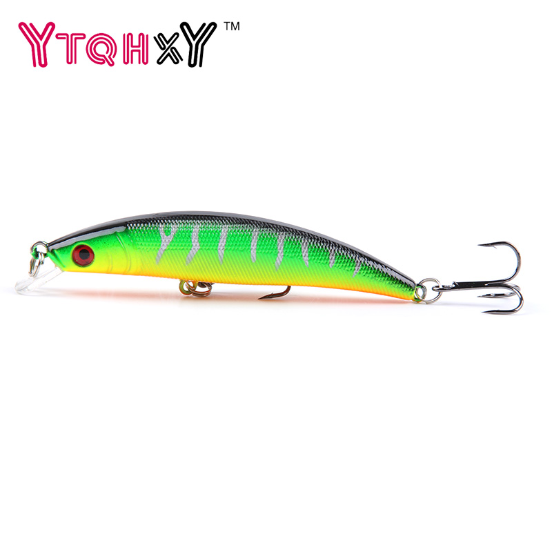 1PCS/bag 5 colors 8 cm 8.5 g Fishing Lure Minnow Hard Bait with 2 Fishing Hooks Fishing Tackle Lure 3D Eyes lures YE-176 tsurinoya fishing lure minnow hard bait swimbait mini fish lures crankbait fishing tackle with 2 hook 42mm 3d eyes 10 colors set