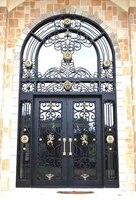 Кованого железа один ворота конструкции кованого железа передней двери оборудования