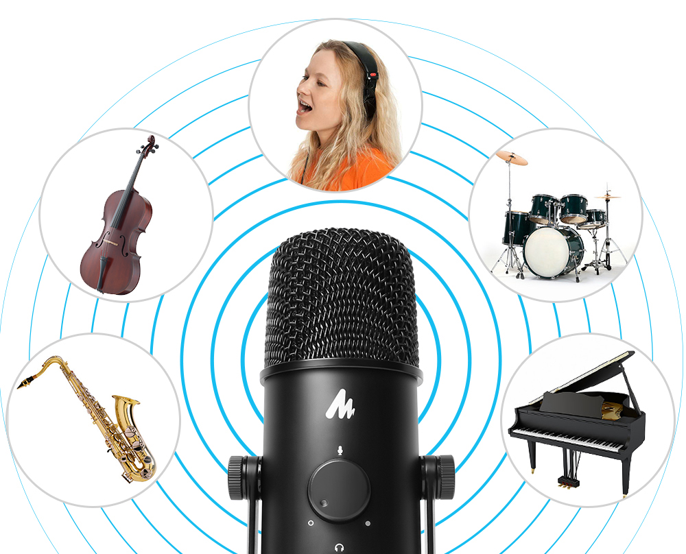 MAONO AU 903 USB Condenser Microphone Kit Cardioid Omnidirectional Podcast  Microphone Computer Mic For YouTube Gaming Recording|Microphones| -  AliExpress