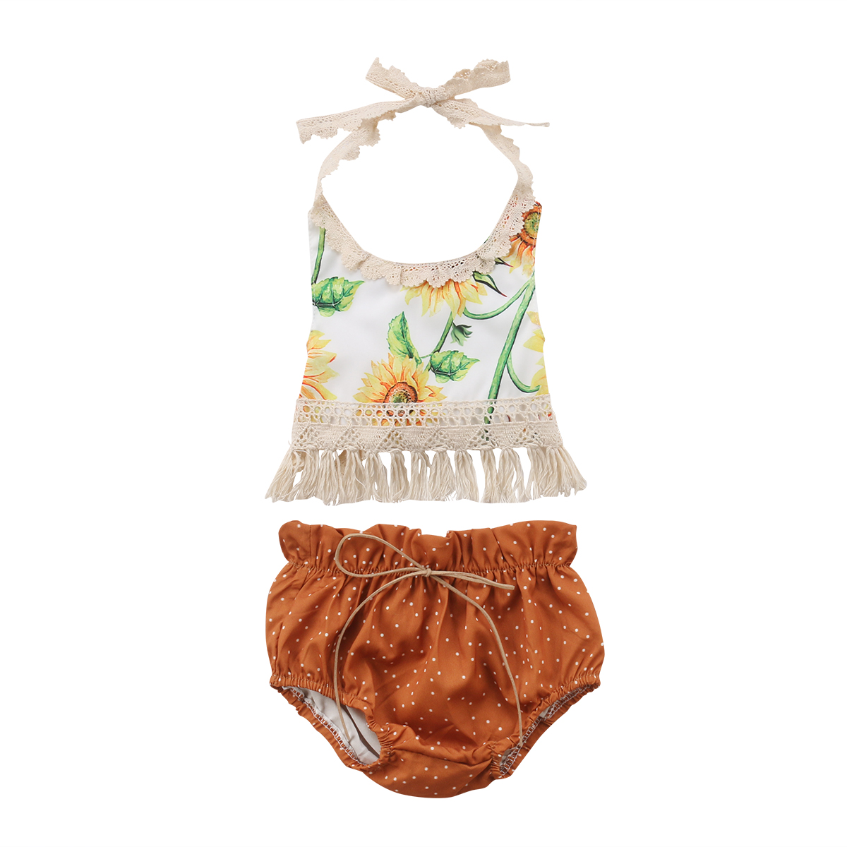 Emmababy Newborn Kids Sunflower Set Baby Girls Flower