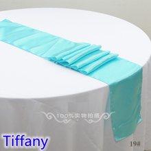 Chemin de Table en Satin de couleur Tiffany, décoration moderne pour mariage, fête de mariage, hôtel, Banquet, vente en gros