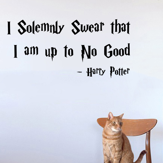I Solemnly Swear That I Am Up To No Good Harry Potter Wall Sticker