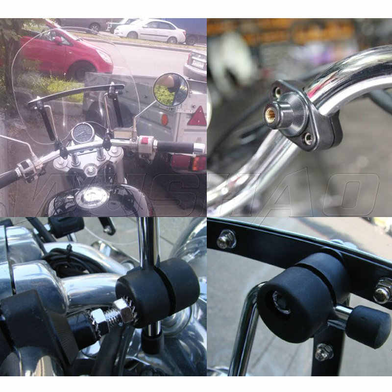 Motorcycle Windshield Windscreen For Yamaha V Star 650 950 Virago 1000 1100  Vmax 1700 With 7/8