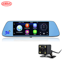 7 Inch 3G Car GPS Navigation Android 5 0 Bluetooth DVR Dual Lens Video Recorder Rear