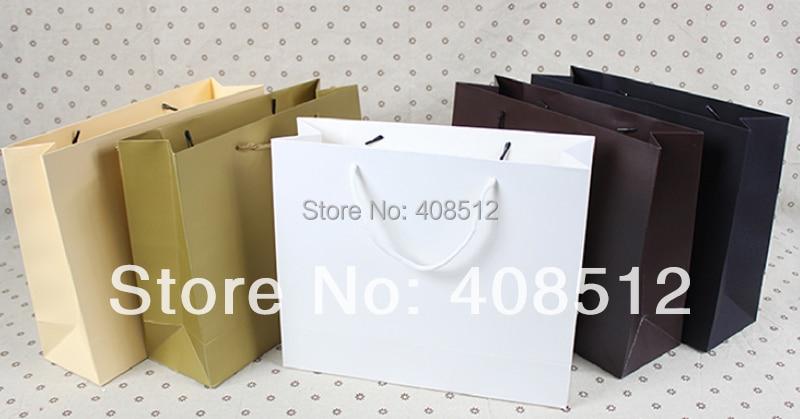 Настройка Логотип текст 500 шт. 32 Wx10 сторона ширина х 26 см h веревку ручки 250gsm бумага сумка печати