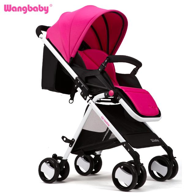 Wangbaby paisaje de alta cochecito de bebé puede sentarse mentira ultra portátil plegable paraguas cochecito de bebé cochecito de bebé de coche de verano