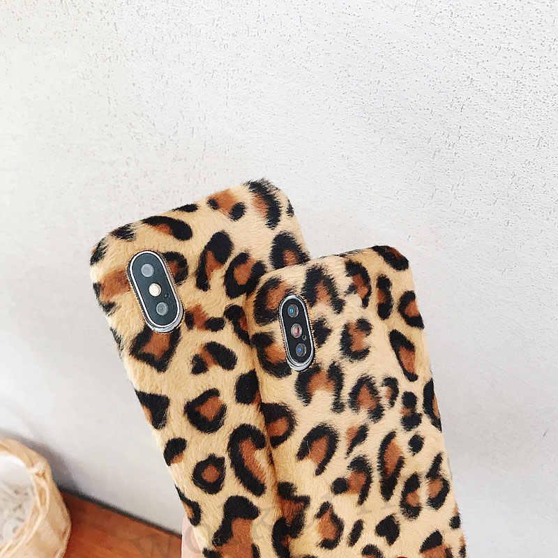 Леопардовый плюшевый Меховой чехол s для телефона huawei P20 Lite mate 20 10 P20 Pro Honor 8X 7C Pro 10 V10 мягкий чехол Y9 2019 Nova 3i 3