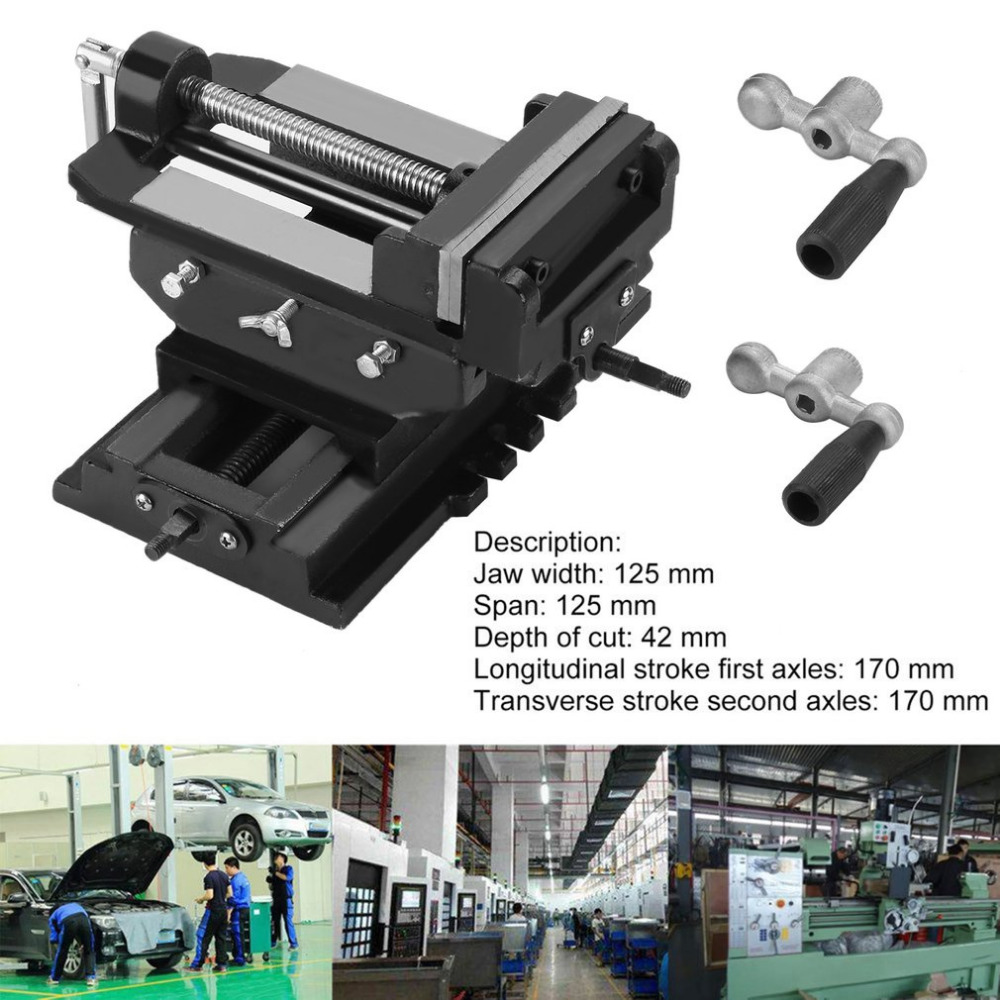 125mm Multifunctional Bench Vise For Drilling Milling Machine 5 Inch Cross Working Table Vice Durable Workshop Clamp Hot Sale