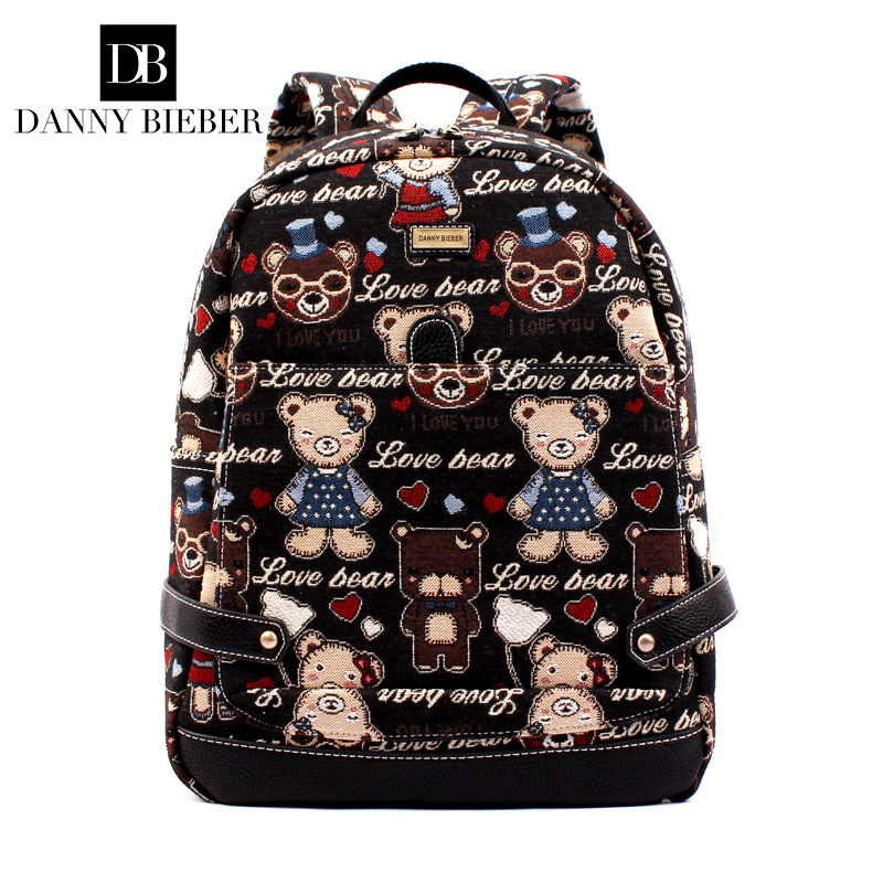 Fashion Canvas Backpacks for Teenage Girls Middle School Students School Bag Women Men Laptop Backpack 2018 girls last tour backpack shoujo shuumatsu ryokou schoolbag for middle school students