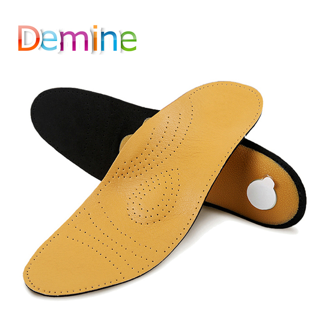 79331f0c7c Demine Orthopedic Insoles Leather Arch Support for Flat Foot Shoes Insert  Pads Soft Comfortable Health Foot Care Cushion insoles