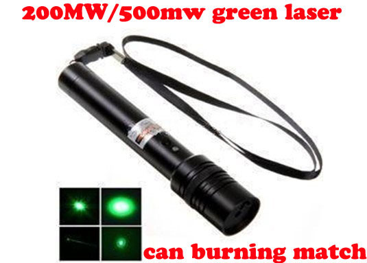 Green Laser Pen 200mw/500mw Adjustable Focus can light the match freeshipping 4pcs/lot
