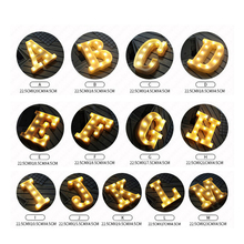 LED Heart Sign Plastic Lighting Letters Symbol Decorations