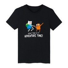 WHAT TIME IS IT? Style White Cotton Tshirt ood looking and Durable Men/Women ADVENTURE TIME shirt Street Wear with High quality