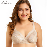 Delimira Women S Wireless Plus Size Non Padded Floral Lace Comfortable Bra