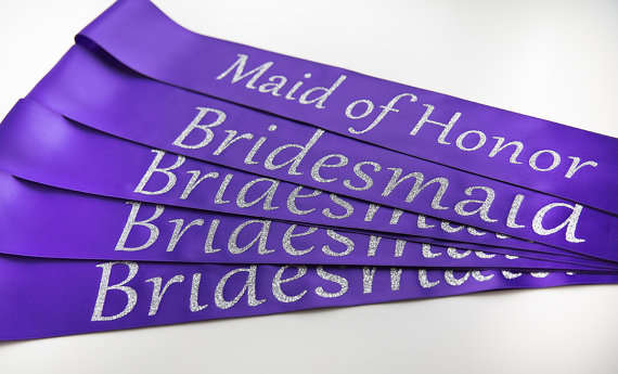 04466e1021 US $12.03 10% OFF|personalize title glitter Bride wedding sash Bachelorette  maid of honor bridesmaind sashes gifts bridal party favors -in Party ...