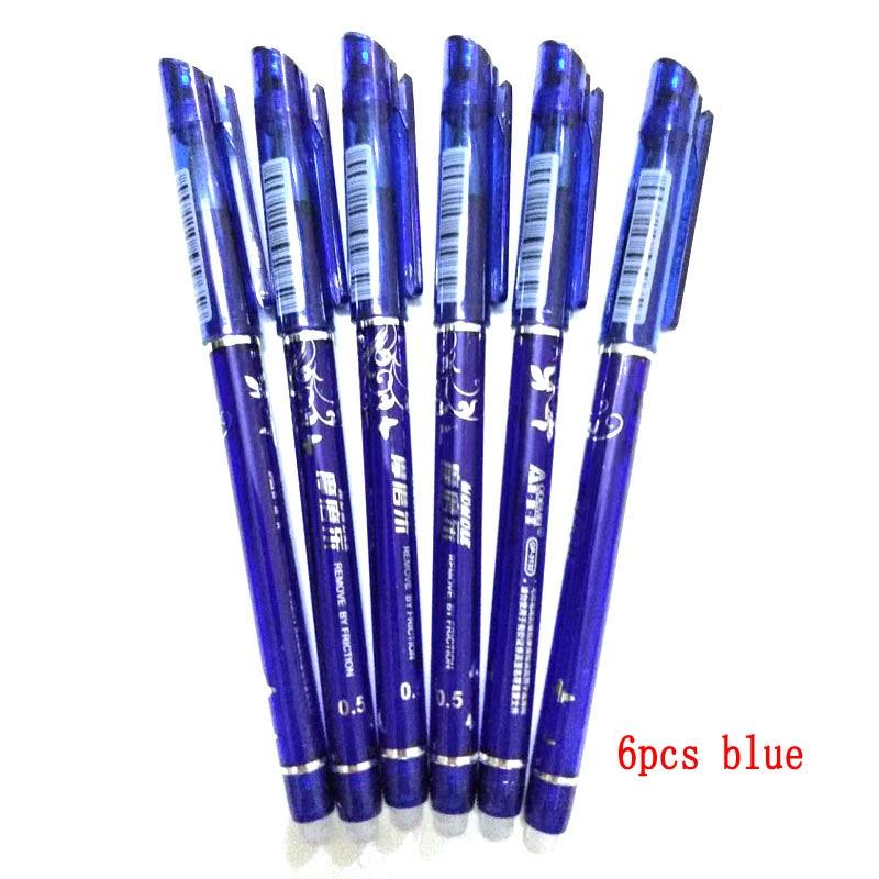 DELVTCH 0.5mm 6pcs/set Erasable Pen Blue/Black/Red Erasable Ink Gel Pen 4 Colors Avaliable For Children's Gift Office Student