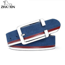 new 2017 cowleather mens cow genuine leather luxury strap male belts for men 4 colors cintos masculinos plate buckle cowhide