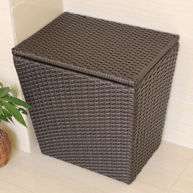 Large Plastic Rattan Laundry Basket Of Dirty Clothes Storage Baskets With A Lid Barrel Ba