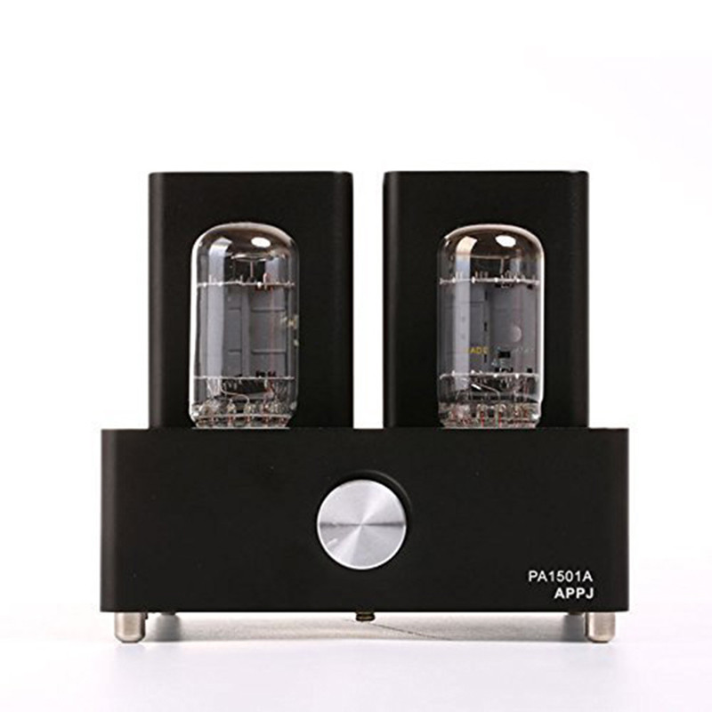 Amplifiers Original APPJ PA1501A Class A Mini 6AD10 Audio Voccum Tube Amplifier HIFI Desktop Amp Upgrade Version of PA0901A 2017 brand new appj pa1601a vintage mini 6j1 6p4 tube amplifier desktop wifi usb sd card player 3w 3w silver