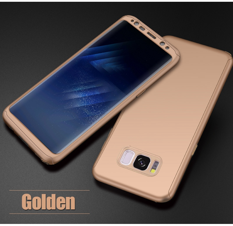 Luxury 360 Full Cover Case For Samsung Galaxy S8 S7 Plus Cases Shockproof PC With Glass TOMKAS Case For Samsung Galaxy S8    (20)