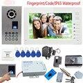 USD 395.91 piece IP65 Impermeabile Video Telefono Del Portello Del  Campanello Campanello del Citofono Supporto Fingerprint Codice di Sblocco  Con Serratura ... f99a405c00f9