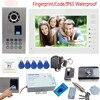 IP65 Waterproof Video Door Phone Doorbell Bell Intercom Support Fingerprint Code Unlock With Rfid Door