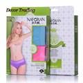 2pcs/lot High quality bamboo fiber thin female sexy breathable mesh briefs underwear women Panties M-XL C6231