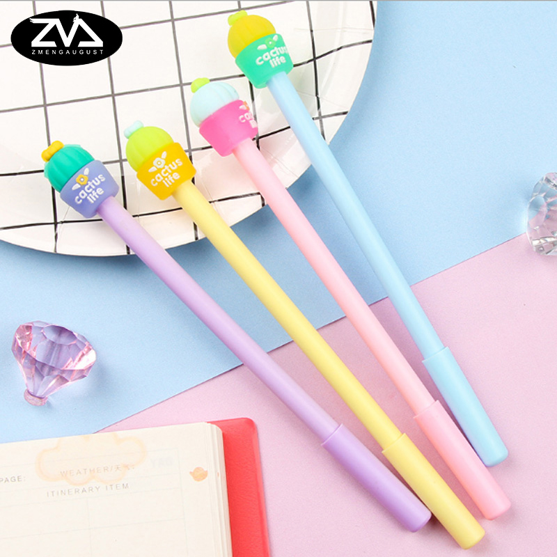 4pcs/lot Creative Prickly pear potted gel pen cartoon Neutral stationery canetas material escolar office school supplies