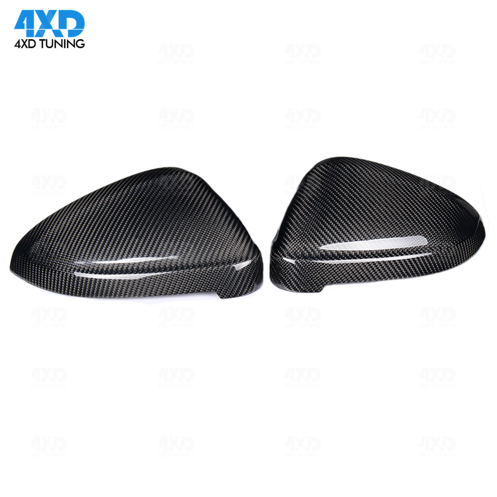 A4 A5 Mirror Cover For Audi RS5 B9 S4 S5 RS4 dry Carbon Fiber Side RearView