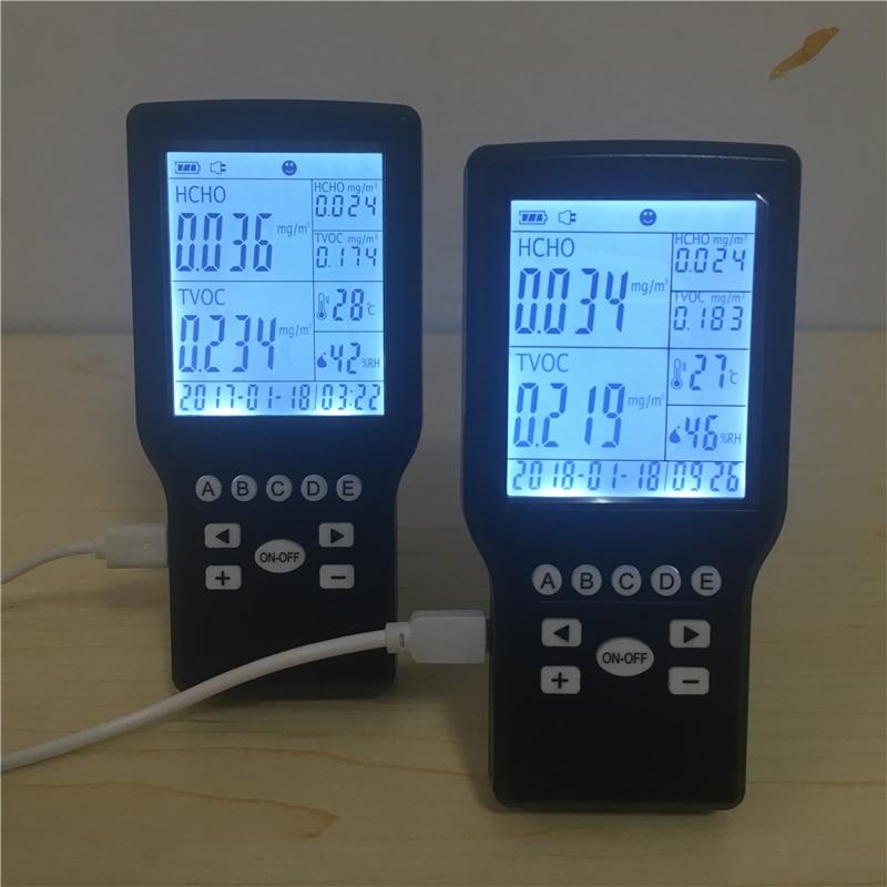 Formaldehyde Monitor Detector with Temperature & Humidity home use home use mini formaldehyde monitor detector with temper