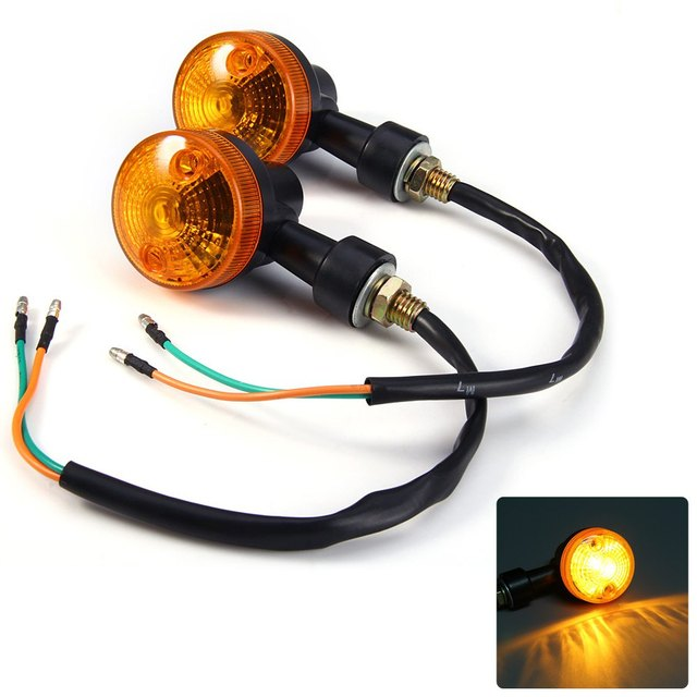 Universal Mini Motorcycle Turn Signal Light Indicator Flasher Blinker Lamp Amber Light Energy Saving Long Lifespan Cat Eye Style