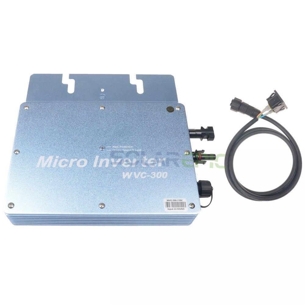 300W Waterproof Grid Tie Inverter IP65 For 24V/36V Solar Panel Pure Sine Wave Inverter DC22V-50V to AC110V/220V Solar Inverter300W Waterproof Grid Tie Inverter IP65 For 24V/36V Solar Panel Pure Sine Wave Inverter DC22V-50V to AC110V/220V Solar Inverter