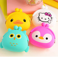Factory direct sale South Korea lovely mini zero wallet soft buckles female cartoon silicone coin bag change purse