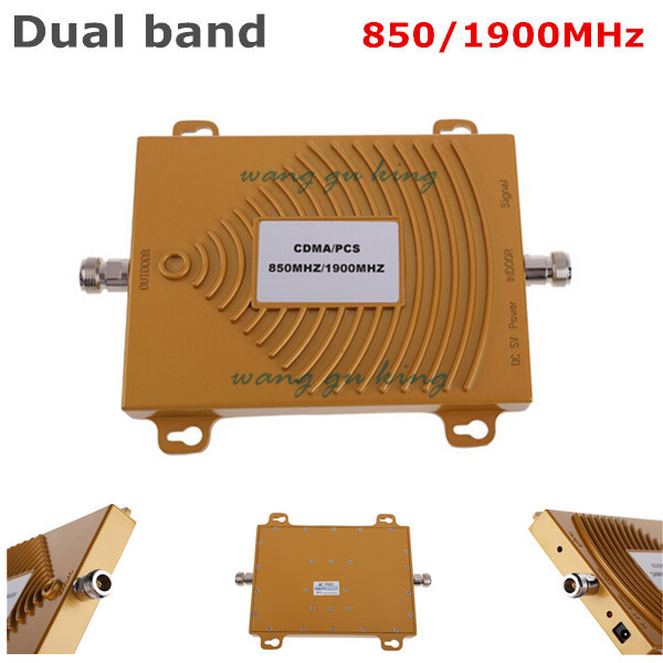 Hot Sale ! CDMA 850Mhz + PCS 1900MHz Dual Band Mobile Phone Signal Booster , PCS CDMA Si ...