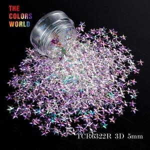 Image 2 - TCT 046 3D Effect 5 มม.รูปร่าง 12 สี Glitter ชุดสำหรับเล็บ Glitter ตกแต่งเล็บแต่งหน้าเครื่องสำอางและ DIY
