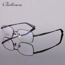 Bellcaca Spectacle Frame Men Eyeglasses Prescription Computer Optical Clear Lens Glasses Pure Titanium For Male BC298