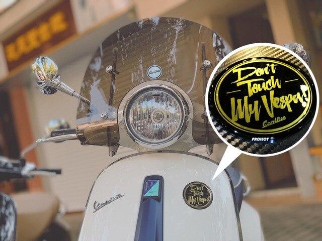 Cho xe vespa mặt trước Logo dán cường lực Nhôm hợp kim miếng dán Bảng Tên Nam Châm bảng tên Miếng Dán