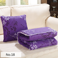 Deep Purple Prints Patterns Square Soft Bolster Blanket Two Uses Cushion Good Quality Pillow Summer