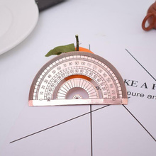 Semi-circular protractor length 10cm high quality copper protractor office and school education supplies measuring tools richard george boudreau incorporating bioethics education into school curriculums