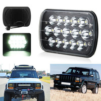 5x7 LED Square Headlights With Daytime Running Light For Jeep XJ Cherokee MJ Comanche Truck 7*6 Inch Rectangular Headlamp 2pcs