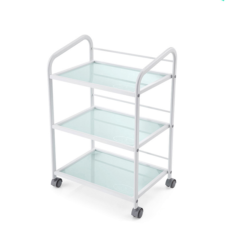 High Quality Drawer Three-layer Hair Manicure Trolleys Tattoo Equipment Racks Beauty Tools Car Tempered Glass Thick Metal Frame